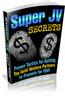 Thumbnail Super JV Secrets