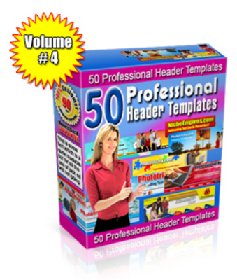 Pay for Professional Header Templates Volume #4