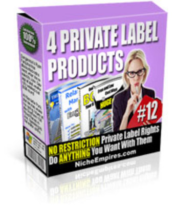 Pay for 4 Private Label Products Volume #12