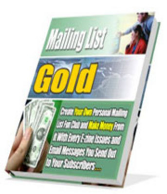 Pay for Mailing List Gold