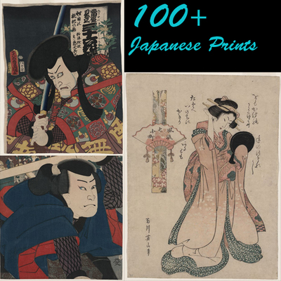Pay for 100+ Japanese Vintage Prints on Woodblock