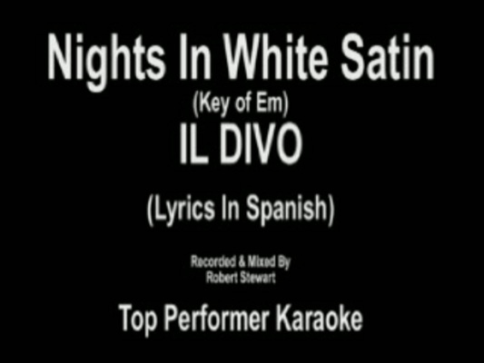 Nights in white satin key em karaoke cd g video amp mp3 backing track