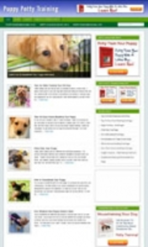 Pay for Puppy Potty Training Niche Blog