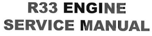 Thumbnail Nissan R33 engine service manual