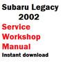 Thumbnail Subaru Legacy 2002 service workshop manual
