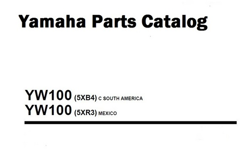 yamaha bws yw100 parts catalog 2007 download manuals. Black Bedroom Furniture Sets. Home Design Ideas