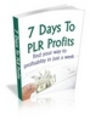 Thumbnail 7 Days To PLR Profits - Find Your Way To Profitablity In Jus