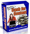 Thumbnail Cash For Content - Make Money From Home With The System