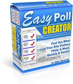 Thumbnail Easy Poll Creator Script - Find Out What Your Site Visitors Think & Want