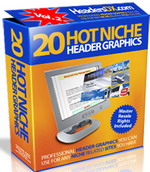Pay for 20 Hot Niche PSD & JPG Header Graphics