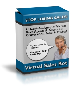 Pay for Virtual Sales Bot - Simple Interactive Exit Traffic Sales Ag