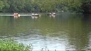 Thumbnail Canoes on the Shenandoah River Wide Screen AVI, Royalty Free