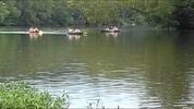 Thumbnail Canoes on the Shenandoah River Wide Screen AVI, Royalty Free