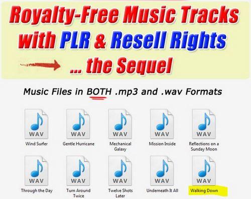Pay for 1 Professional Quality Music tracks -Walking Down.wav