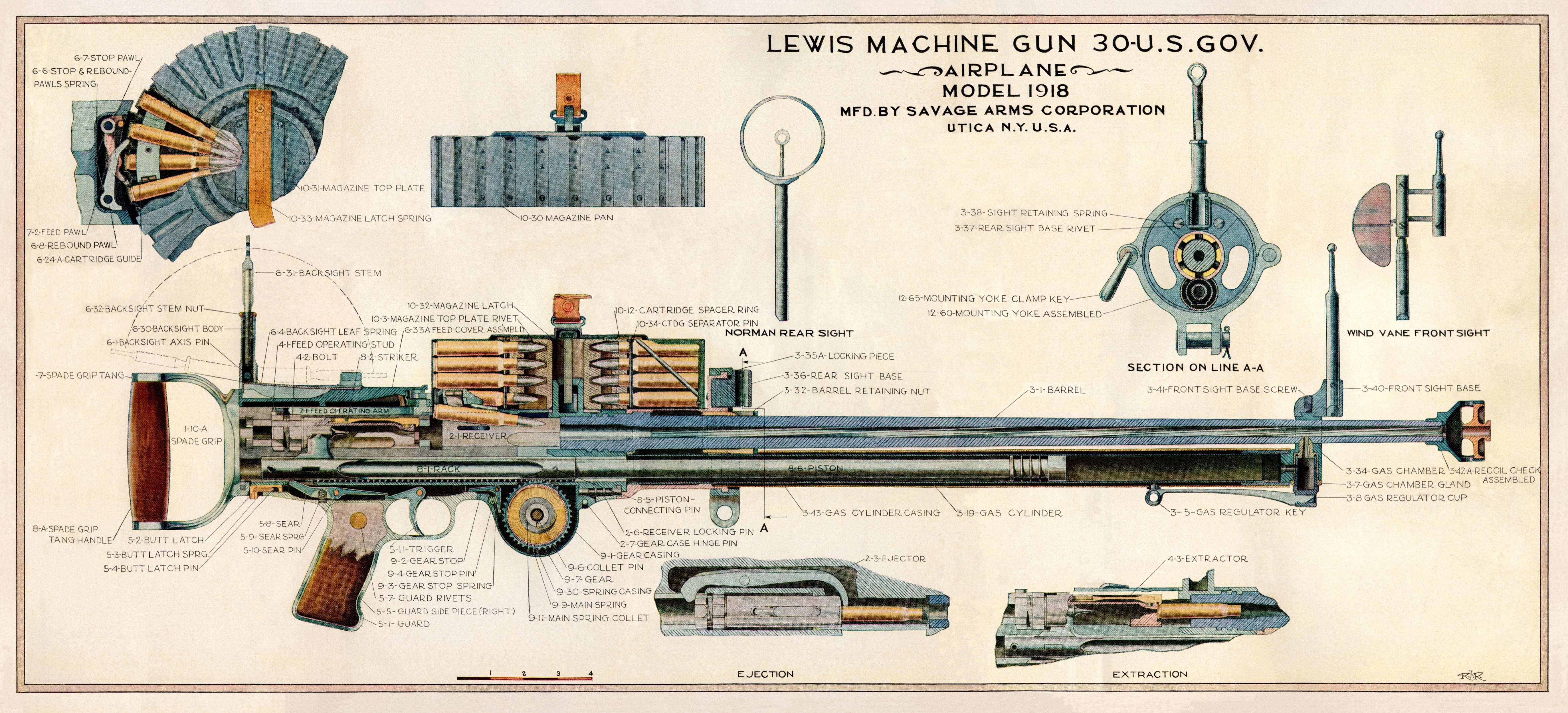 1918 lewis machine gun manual download workshop service. Black Bedroom Furniture Sets. Home Design Ideas