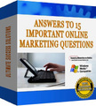 Thumbnail Answers To 15 Important Online Marketing Questions - *w/Resell Rights*