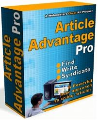 Thumbnail Article Advantage Pro  A Powerful New Approach To Use Articles - *w/Resell Rights*