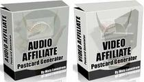 Thumbnail Audio/Video Affiliate Postcard Generator  Earn Huge Commissions With Audio & Video Postcards - *w/Resell Rights*