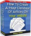 Thumbnail How To Create A Huge Database Of Articles On Your Website  by Ameer Salim