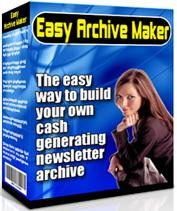 Thumbnail Easy Archive Maker  The Easy Way To Build Your Own Cash Generating Newsletter Archive
