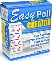 Thumbnail Easy Poll Creator  Find Out What Your Site Visitors Think & Want, Quickly & Easily - *w/Resell Rights*