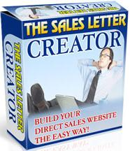 Thumbnail The Sales Letter Creator  Build Your Direct Sales Website The Easy Way - *w/Resell Rights*