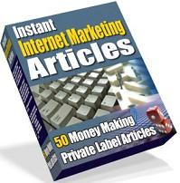 Pay for Instant Internet Marketing Articles  50 Money Making Private Label Articles - *w/Resell Rights*