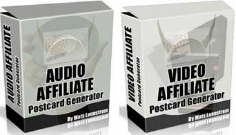 Pay for Audio/Video Affiliate Postcard Generator  Earn Huge Commissions With Audio & Video Postcards - *w/Resell Rights*