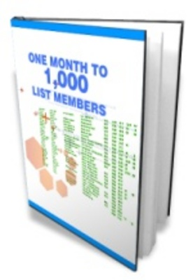 Pay for One Month to1000 List Members - E-Mail Marketing