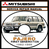 Thumbnail 1982-89 MITSUBISHI PAJERO-MONTERO 4WD WORKSHOP MANUAL
