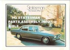 Thumbnail HOLDEN HQ STATESMAN DEVILLE ASSEMBLY ANDFACTORY PARTS GUIDE