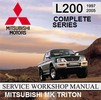 Thumbnail MITSUBISHI MK MJ TRITON 1997-2003 FACTORY WORKSHOP MANUAL