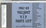 Thumbnail CHRYSLER VALIANT R S AP5 AP6 VC VE VF PACER PARTS 1962-1969