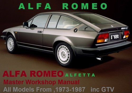Alfa romeo alfetta gtv 1973 1987 workshop service manual pdf down pay for alfa romeo alfetta gtv 1973 1987 workshop service manual pdf sciox Images