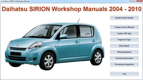 Daihatsu Sirion Master RepairElectricalBody MANUAL Download Man