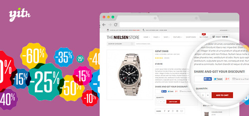 Pay for YITH WOOCOMMERCE SHARE FOR DISCOUNT PREMIUM 1.4.9