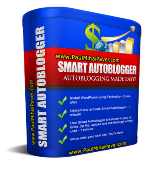 Pay for Smart Autoblogger + Bonuses Wordpress Paypal Button Generator and 100 PLR Articles in 10 Niches - Build a Targetted Niche Blog in a Couple of Hours and Sit Back While It GROWS Over Time... + MRR