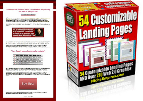Landing Page Templates Graphics PLR Download Templates - Buy landing page template