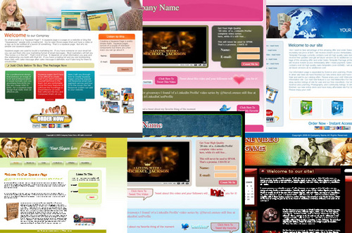 Pay for 8 Very Nice and Professional Looking Templates + PLR
