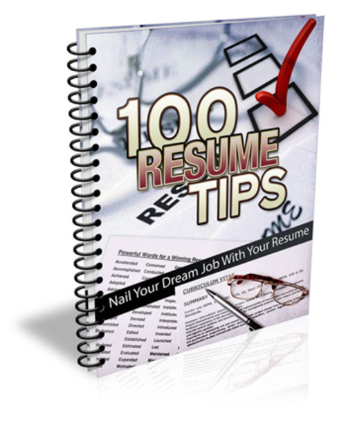 Pay for 100 Resume Tips