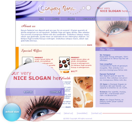 Pay for New Beauty, health parlours and saloons web template