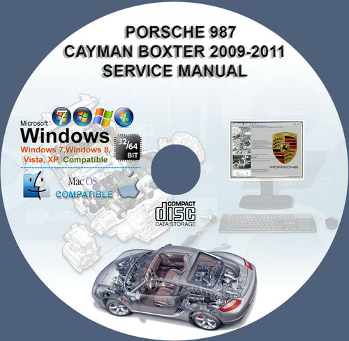 Thumbnail Porsche 987 Boxster Cayman 2009-2011 Workshop Service Manual