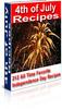 Thumbnail 212 July 4th Recipes PLR Ebook + Bonus Software