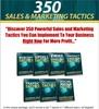 Thumbnail 350 Sales and Marketing Tactics PLR E-book + Website + Bonus