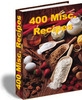 Thumbnail 400 Misc. Recipes PLR E-book + Website + Bonus Software