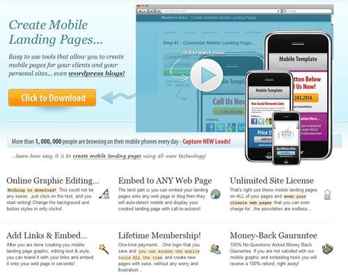 Pay for Instant Mobile Site-PLR + Bonus Software