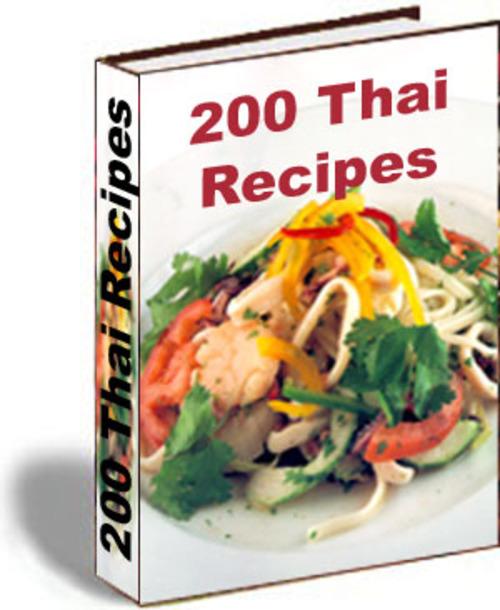 Pay for 200 Thai Recipes PLR E-book + Website + Bonus Software