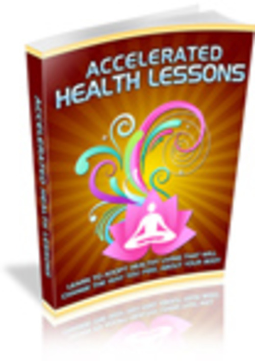 Pay for Accelerate Health Lessons PLR E-book + Website + Bonus