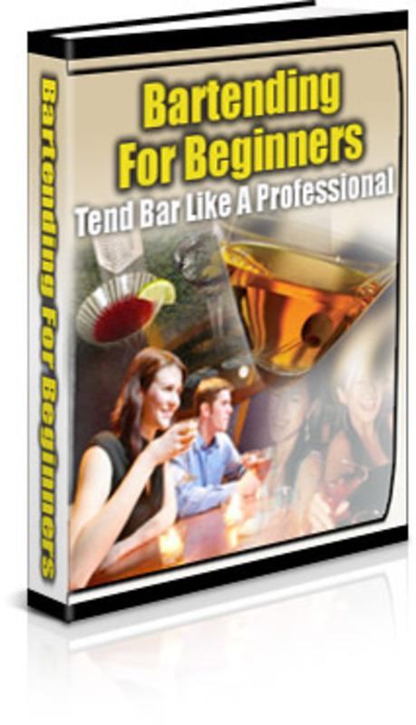 Pay for Bartending For Beginners MRR E-Book + Website + Bonus