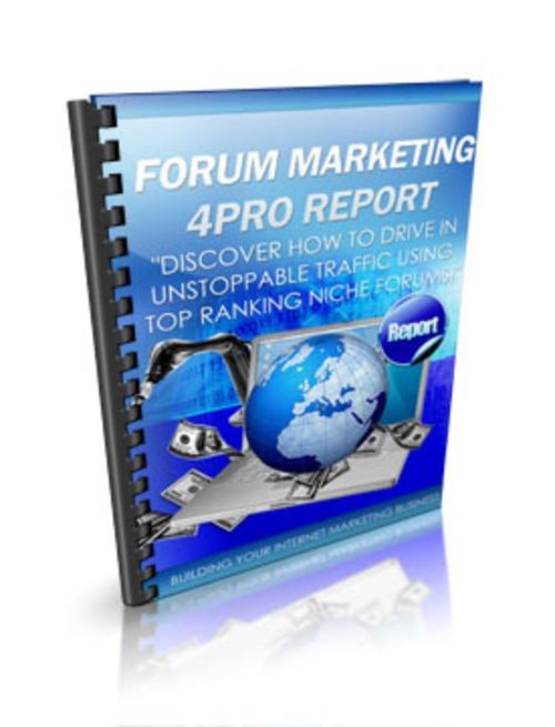 Pay for Forum Marketing 4Pro MRR E-Book + Website + Bonus